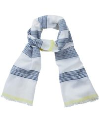 Pure Collection - Textured Stripe Scarf - Lyst
