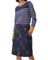 White Stuff - Denim Truffle Jersey Skirt - Lyst
