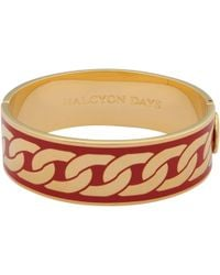 Halcyon Days - Curb Chain Hinge Bangle - Lyst