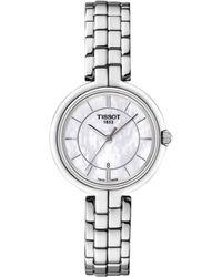 Tissot - T0942101111100 Women's Flamingo Date Bracelet Strap Watch - Lyst