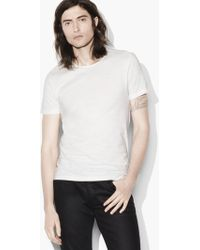 John Varvatos - Striated Crewneck - Lyst