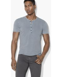 John Varvatos - French Terry Henley - Lyst