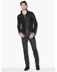 John Varvatos - Wire Collar Leather Jacket - Lyst