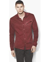 John Varvatos - Dyed Snap Button Shirt - Lyst