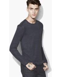 John Varvatos - Artisan Crewneck Sweater - Lyst