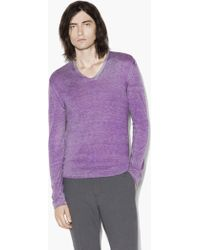 John Varvatos - Artisan V-neck Sweater - Lyst