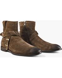 John Varvatos - Nyc Double Buckle Boot - Lyst