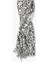 John Varvatos - Leopard Scarf - Lyst