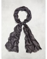 John Varvatos - Modal Abstract Print Scarf - Lyst