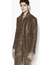 John Varvatos - Burnished Double Breasted Coat - Lyst