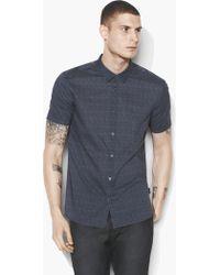 John Varvatos - Foulard Short Sleeve Shirt - Lyst
