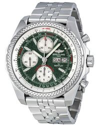 Breitling - Pre-owned For Bentley Chronograph Automatic Green Dial Mens Watch - Lyst