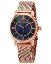 Maserati Epoca Blue Mother Of Pearl Dial Ladies Watch