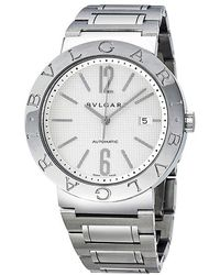 BVLGARI Pre-owned Automatic White Dial Stainless Steel Mens Watch