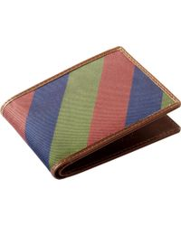 Jos. A. Bank - Jos.a.bank Navy, Wine & Green Stripe Bi-fold Wallet Clearance - Lyst