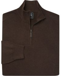 Jos. A. Bank - Traveler Collection Traditional Fit Quarter Zip Pima Cotton Sweater - Lyst
