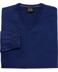 Jos. A. Bank | Traveler Collection Merino Wool V-neck Sweater - Big & Tall | Lyst