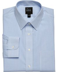 Jos. A. Bank - Traveler Collection Traditional Fit Point Collar Microcheck Dress Shirt - Lyst