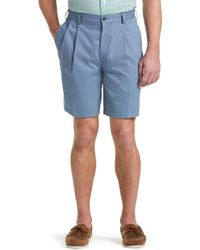 Jos. A. Bank - Traveler Collection Traditional Fit Pleated Front Twill Shorts - Lyst