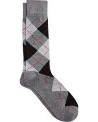 7416d73d8648 Lyst - Jos. A. Bank Argyle Patterned Dress Socks in Purple for Men