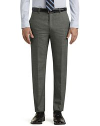 Jos. A. Bank - Executive Collection Tailored Fit Flat Front Sharkskin Dress Pants Clearance - Lyst