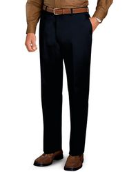 Jos. A. Bank | Traveller Tailored Fit Flat Front Twill Trousers - Big & Tall | Lyst