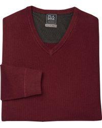 Jos. A. Bank - Travel Tech V-neck Merino Wool-blend Sweater - Lyst