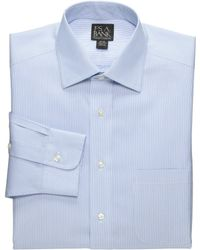 Jos. A. Bank - Traveler Collection Traditional Fit Spread Collar Fine Line Dress Shirt - Big & Tall - Lyst