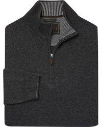 Jos. A. Bank - Reserve Collection Quarter-zip Merino Wool Blend Sweater - Big & Tall Clearance - Lyst