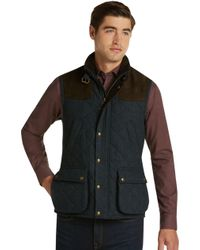 Jos. A. Bank - 1905 Collection Traditional Fit Quilted Herringbone Vest Clearance - Lyst