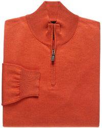 Jos. A. Bank - Signature Collection Pima Cotton Quarter-zip Sweater - Lyst