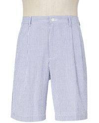 Jos. A. Bank - Stays Cool Cotton Pleated Seersucker Shorts Big And Tall Clearance - Lyst