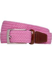 Jos. A. Bank Woven Belt - Pink