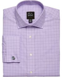 Jos. A. Bank - Executive Collection Tailored Fit Spread Collar Glen Plaid Dress Shirt - Lyst