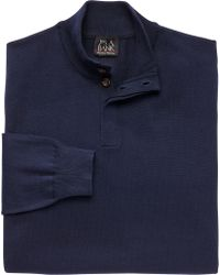 Jos. A. Bank - Signature Collection Pima Cotton 4-button Mock Neck Sweater - Lyst