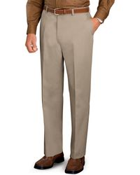 Jos. A. Bank - Traveller Collection Tailored Fit Flat Front Twill Trousers - Lyst