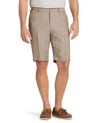 Jos. A. Bank - Reserve Collection Traditional Fit Linen Flat Front Short - Lyst