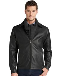 Jos. A. Bank - Signature Collection Leather Bomber Jacket - Big & Tall - Lyst
