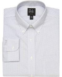 Jos. A. Bank - Traveler Collection Tailored Fit Button-down Collar Tattersall Dress Shirt - Lyst