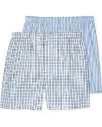 Jos. A. Bank - Plaid & Stripe Woven Boxers, 2-pack - Lyst