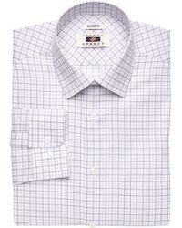 Jos. A. Bank - Joseph Abboud Tailored Fit Spread Collar Grid Dress Shirt - Big & Tall - Lyst