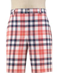 Jos. A. Bank - Stays Cool Tailored Fit Plain Front Plaid Shorts Clearance By - Lyst