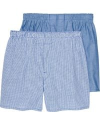 Jos. A. Bank - Check & Solid Woven Boxers, 2-pack - Lyst