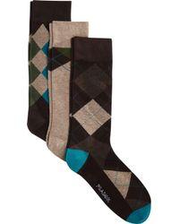Jos. A. Bank - Argyle Patterned Dress Socks, 3-pair Clearance - Lyst