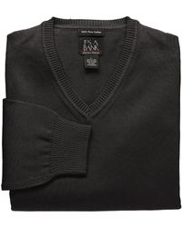 Jos. A. Bank - Signature Pima Cotton V-neck Sweater Big/tall Clearance - Lyst