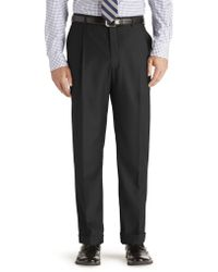 Jos. A. Bank - Windsor Traditional Fit Pleated Front Pre-hemmed Trousers Clearance - Lyst