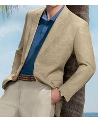 Jos. A. Bank - Executive 2-button Linen/cotton Patterned Sportcoat Clearance - Lyst