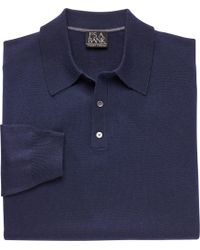 Jos. A. Bank - Traveler Collection Traditional Fit Long-sleeve Men's Polo Shirt - Big & Tall - Lyst