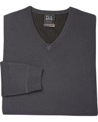 Jos. A. Bank | Travel Tech Collection V-neck Merino Wool-blend Sweater | Lyst