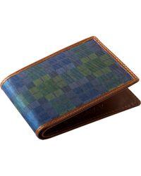 Jos. A. Bank Jos.a.bank Green & Blue Check Bi-fold Wallet